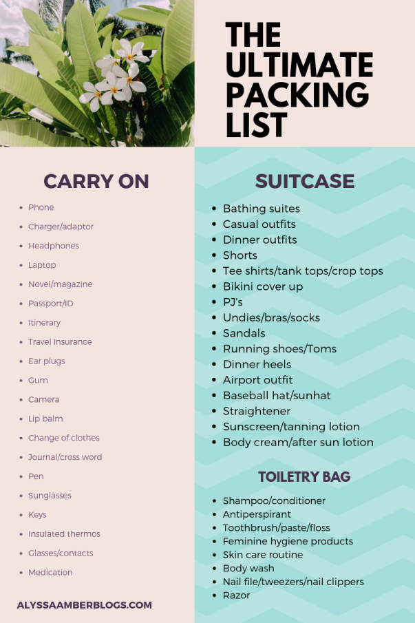 THE ULTIMATE PACKING LIST-2